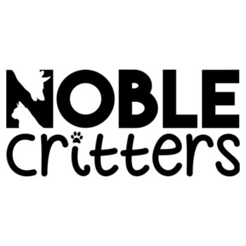 NOBLE CRITTERS LOGO - PREMIUM WOMEN'S FITTED RACERBACK TANK TOP - WHITE Design